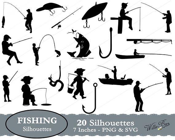 Fishing Svg Fish Clipart Fishing Image Fish Hook Fishing Etsy Fishing Svg Fish Silhouette Fishing Boats