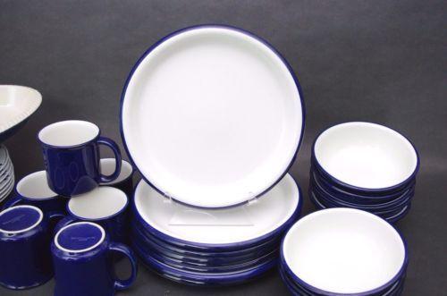 Set-4-Crown-Corning-Stoneware-Made-in-Japan-Heavy-Dinner-Plates-Cobalt-Blue & Set 4 Crown Corning Stoneware Made in Japan Heavy Dinner Plates ...