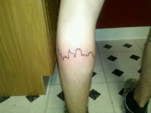 Tattoo<3 My tattoo of the Raleigh, NC skyline.Ive lived here all my ...