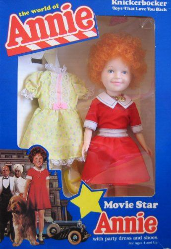 The World Of Annie Movie Star Annie Doll W Party Dress Shoes