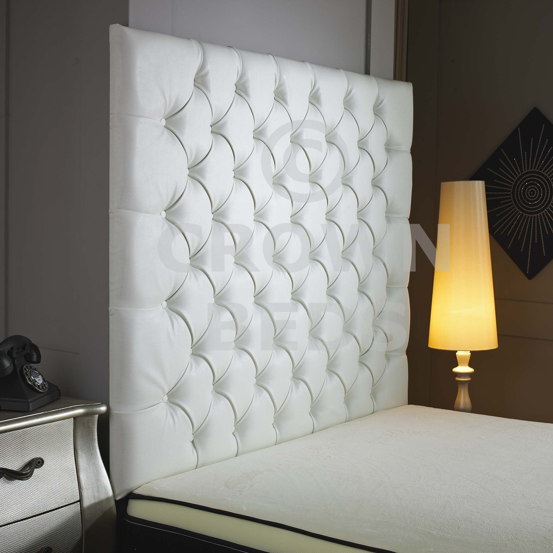 extra large headboards uk | TALL WHITE QUILTED BUTTONED HEADBOARD & extra large headboards uk | TALL WHITE QUILTED BUTTONED HEADBOARD ...