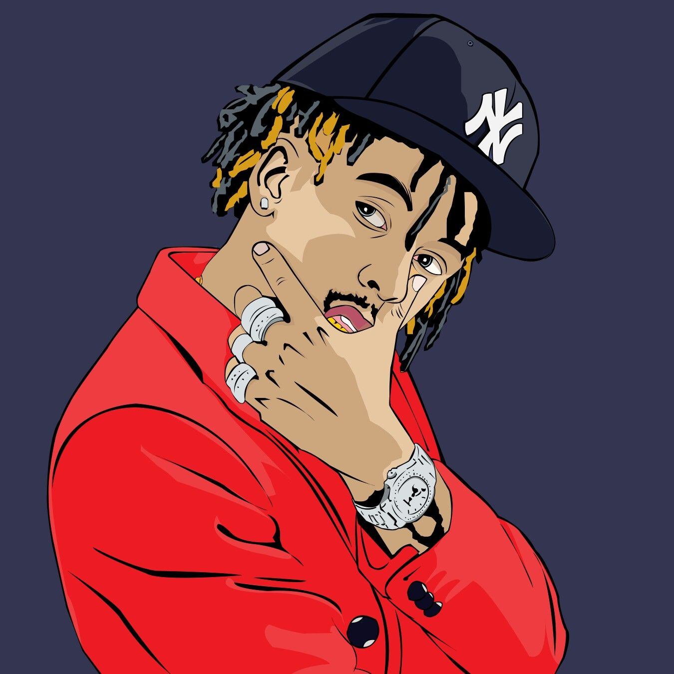 Rich the kid art by paulkawira Seni, Pria