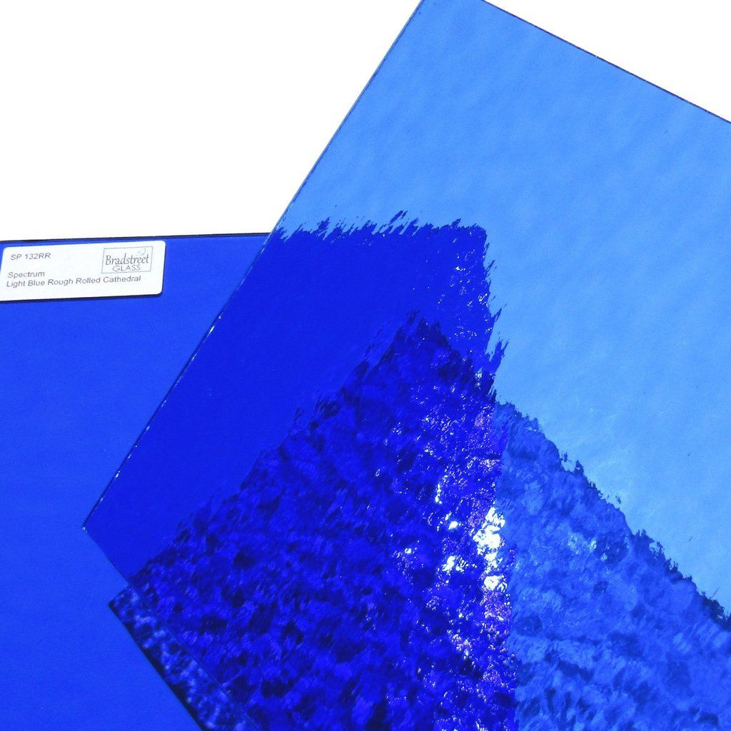 Light Blue Rough Rolled Stained Glass Sheet 96 Coe Oceanside Fusible Spectrum Sf132rr Stained Glass Glass Spectrum