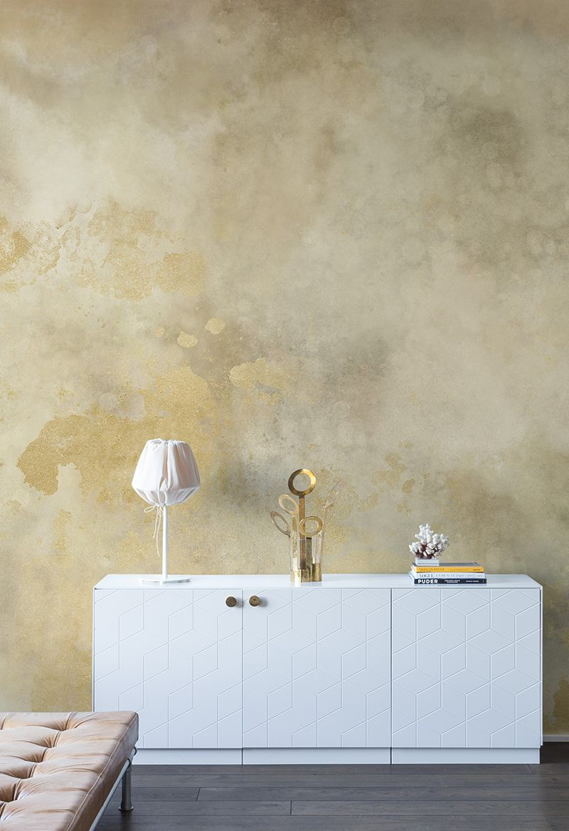 Goldene Wandfarbe Schlafzimmer Color Clouds Gold Wohnzimmer Gold Walls Wall Murals Und Color