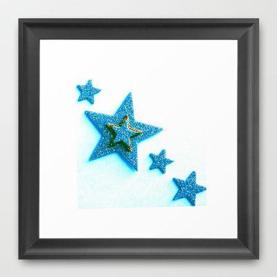 Glittery+Blue+Framed+Art+Print+by+Jensen+Merrell+Designs+-+$32.00