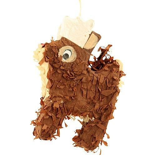 Fill-Your-Own Christmas Pinata Toy - Rudolph Chewable Rudolph shaped hanging toy with a secret hole to add your parrot's favourite treats.