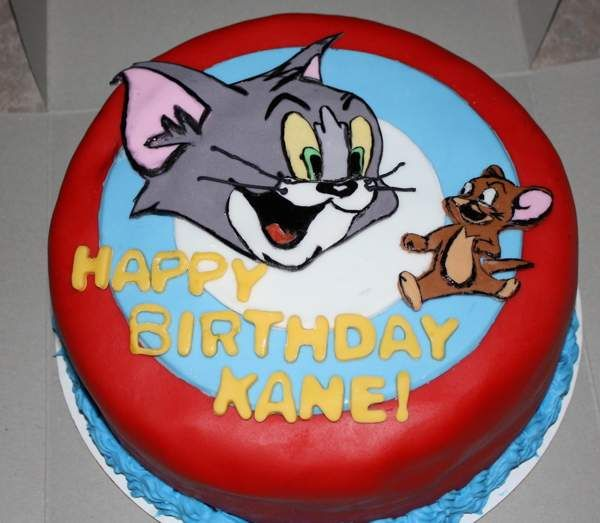 Tom and jerry birthday cake Cake decorating tutorials