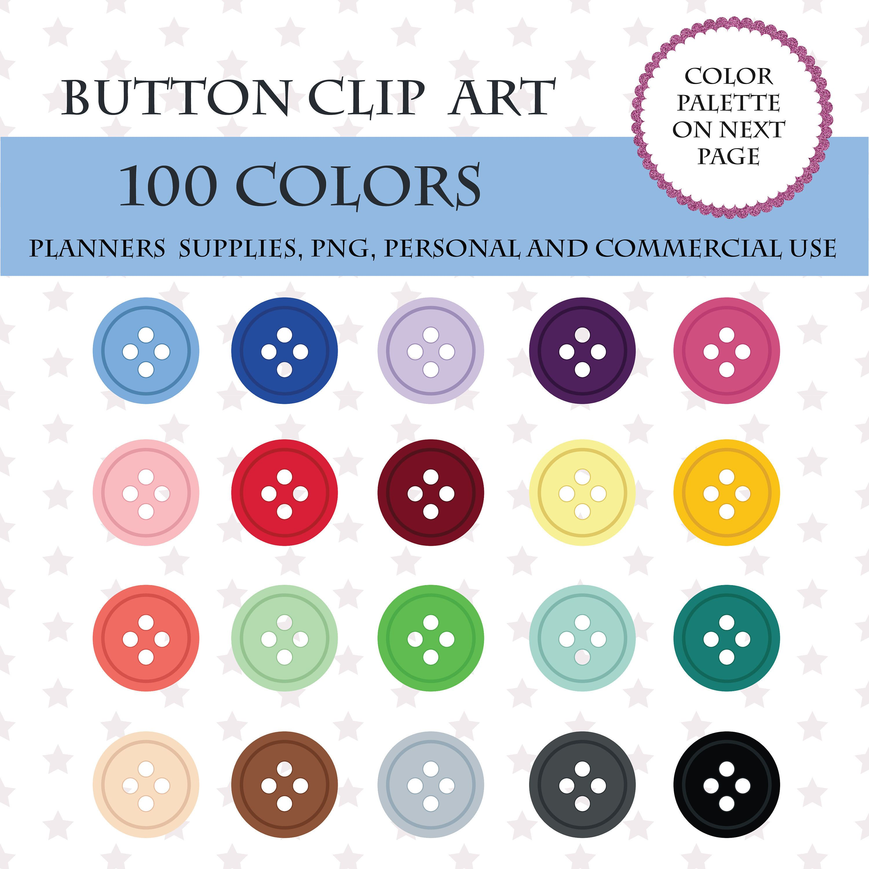 printable 100 buttons clipart button art digital sewing elements clip art cute rainbow buttons commercal use pl61 [ 3000 x 3000 Pixel ]