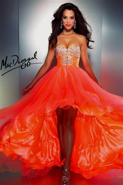Awesome neon orange prom dresses 2018/2019 Check more at http ...