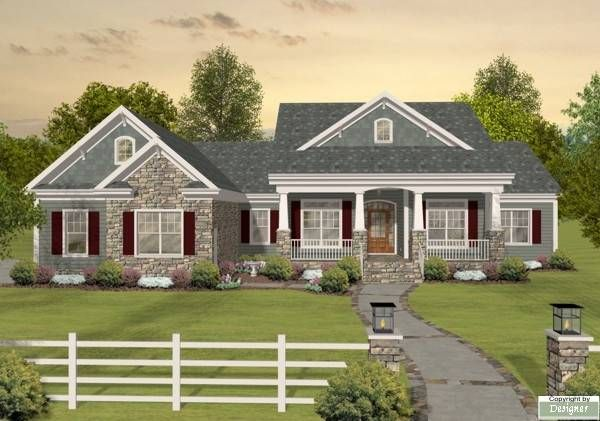 This sophisticated southern country home, with its updated Craftsman facade and spacious interior design, is both flexible and dramatic.