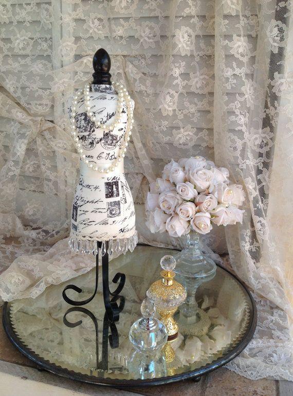 Dress Form Jewelry Display Fabric Body Mannequin Mini Bust