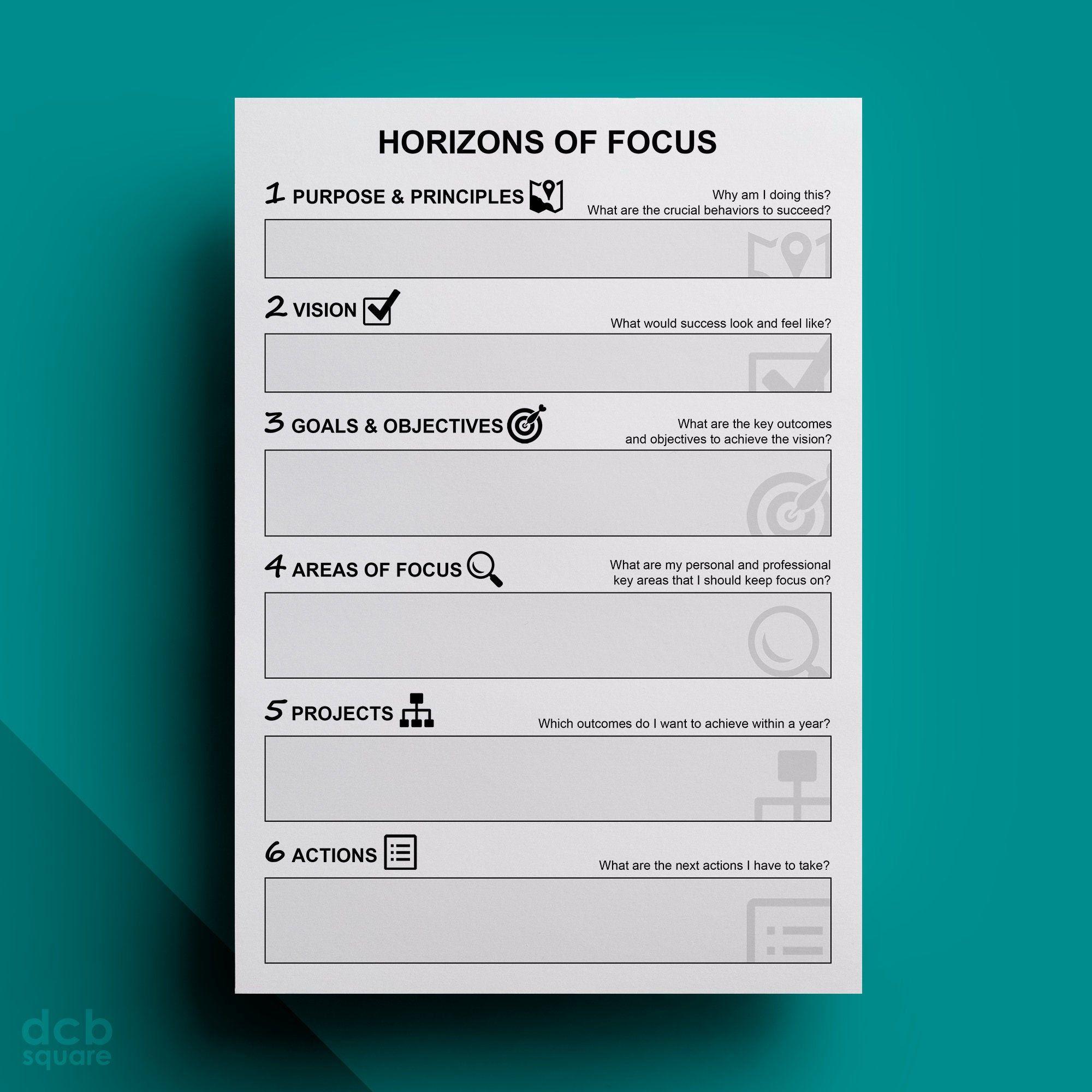 Horizons of Focus Editable Printable Getting Things Done