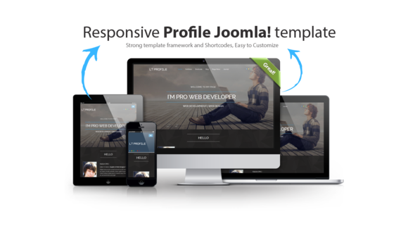Personal Profile Joomla template by LTheme on Creative Market