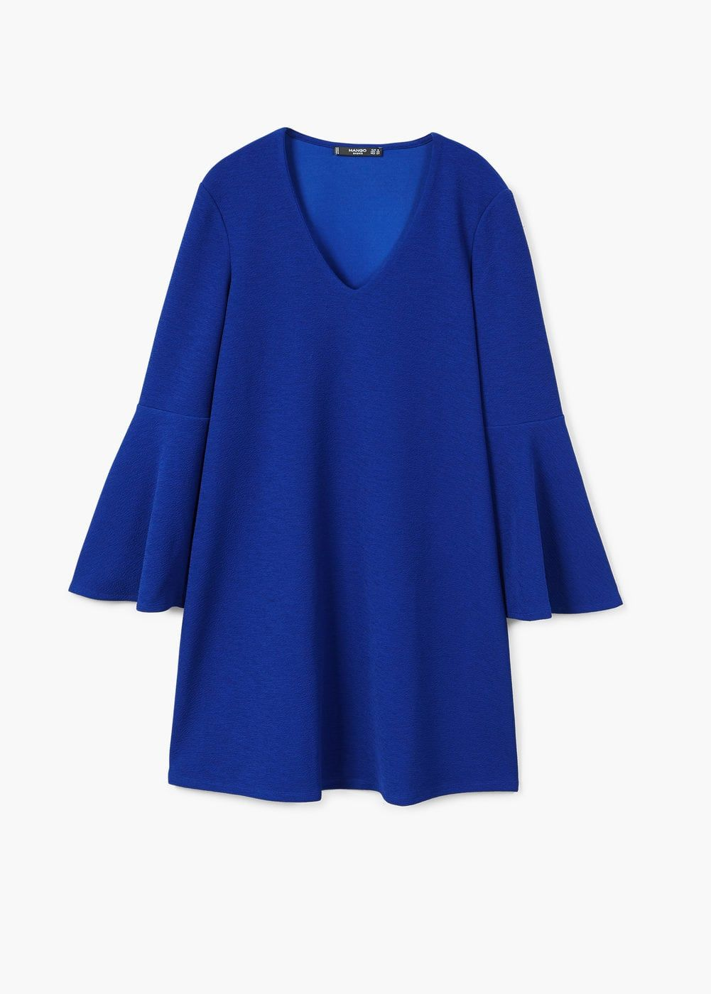 132dc4b004a2dc France · V Neck · Long Sleeve · Flared sleeves dress