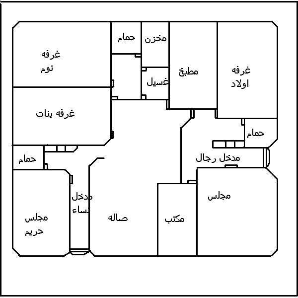 صور مخطط بيت Family House Plans Classic House Design House Layouts