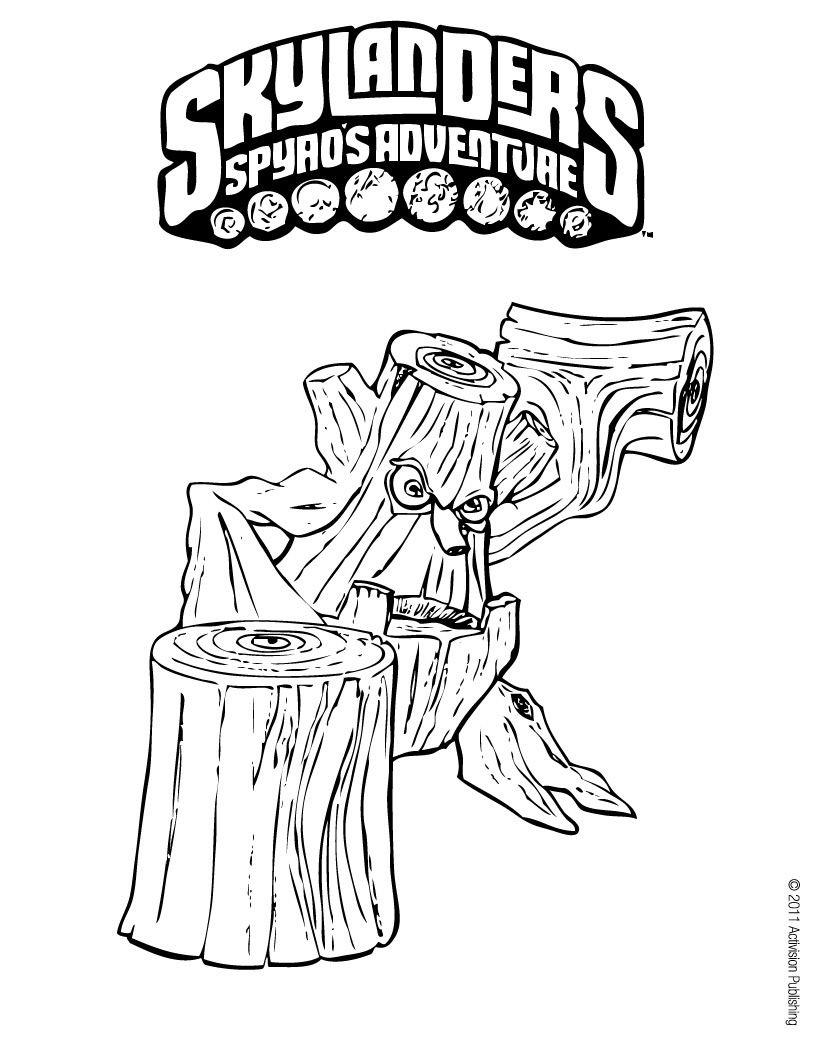 Skylanders Giants Kleurplaten Hothead.Stump Smash Coloring Page Skylanders For E Coloring