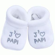 Chaussons mixte pour bébé J'aime Papi