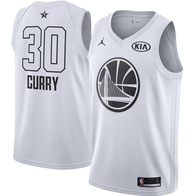 Stephen Curry Golden State Warriors Jordan Brand 2018 All-Star Game Swingman  Player Jersey – White 920045e68