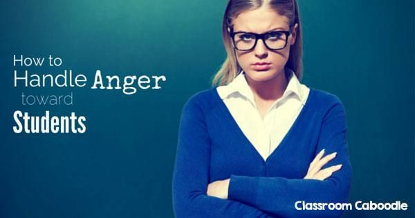 Ever get mad at your students? Everyone does because we aren't perfect. But we can control teacher anger with a few thoughtful steps.