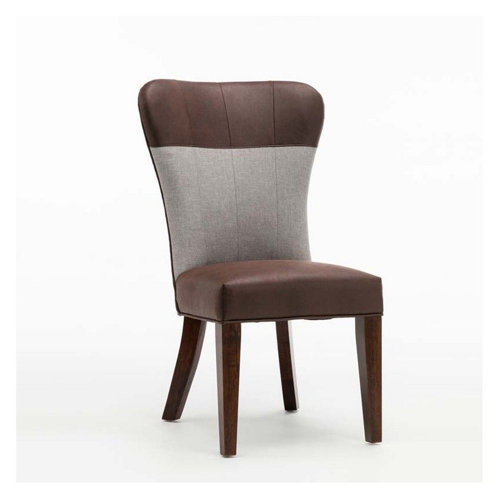 Bolton Upholstered Dining Chair Maroon Gray Set Of 2 Boraam