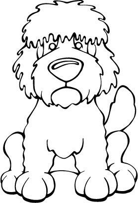 Goldendoodle Decal Dog Labradoodle Art Coloring Pages Coloring