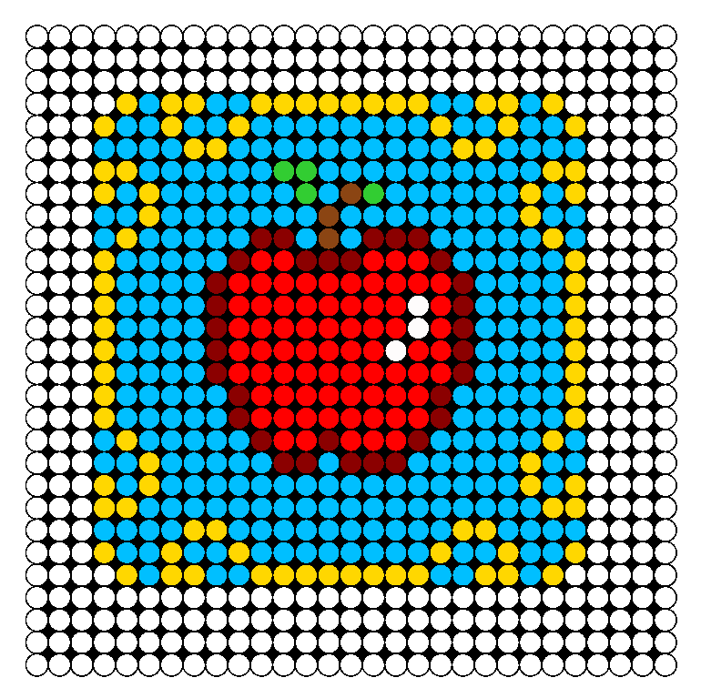 Snow White Coaster Perler Bead Pattern