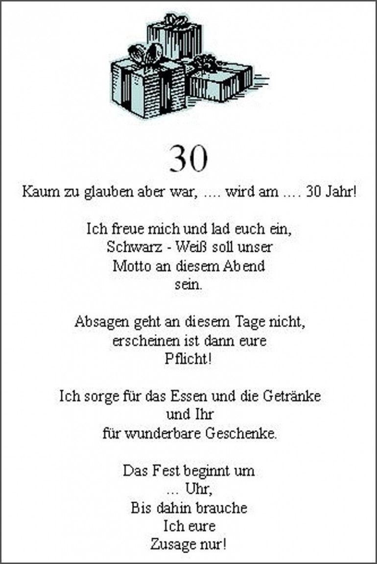Text Einladung 30 Geburtstag Frau Einladung Text Fur Geburtstag