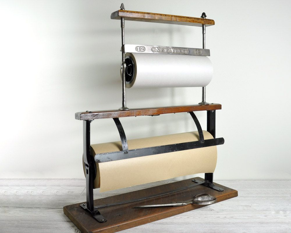 Vintage General Store Double Paper Roll Cutter Industrial Paper Cutter Paper Cutter Craft Room Craft Room Office