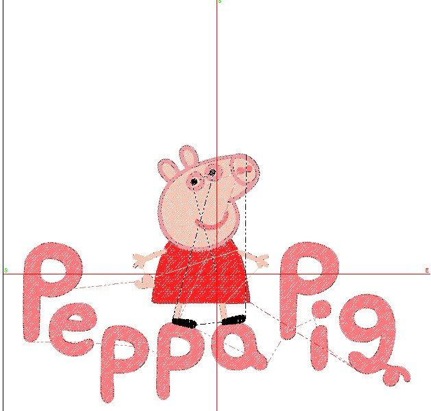 Peppa Pig Embroidery Design Peppa Pig Logo