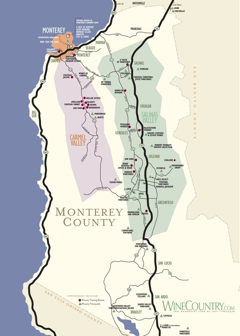 Monterey County Map Travel PNW Edition Pinterest Road