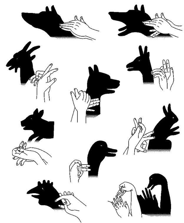 Театр теней рук учебное пособие в картинках