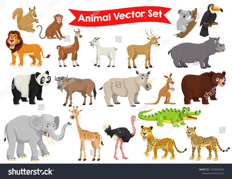 Stock Vector Set Of Animals Cartoon Graphic Illustration Image Vector Graphic Illustration Animal Illustration Cartoon Animals