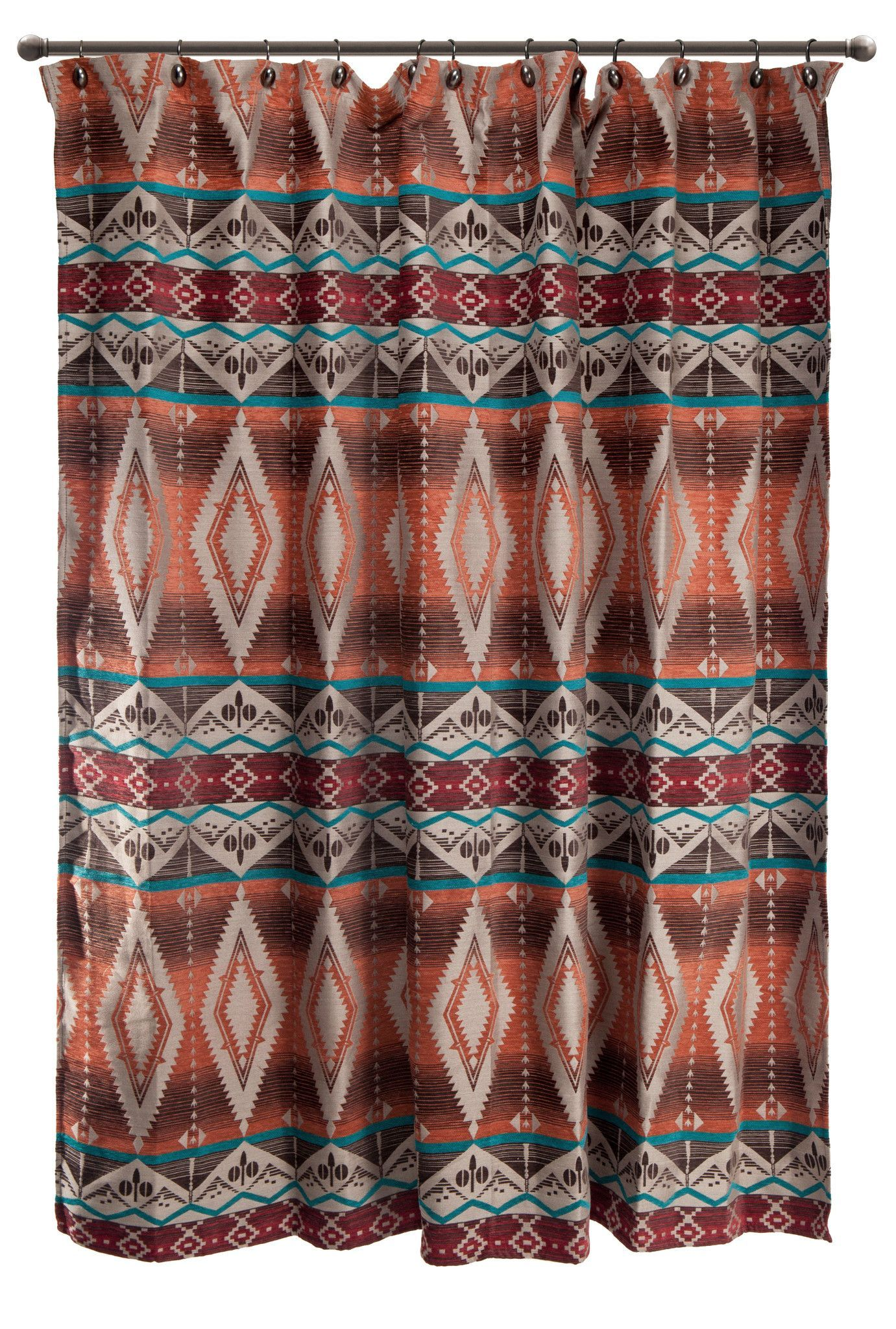 Mojave Sunset Shower Curtain Western Bathrooms Southwestern