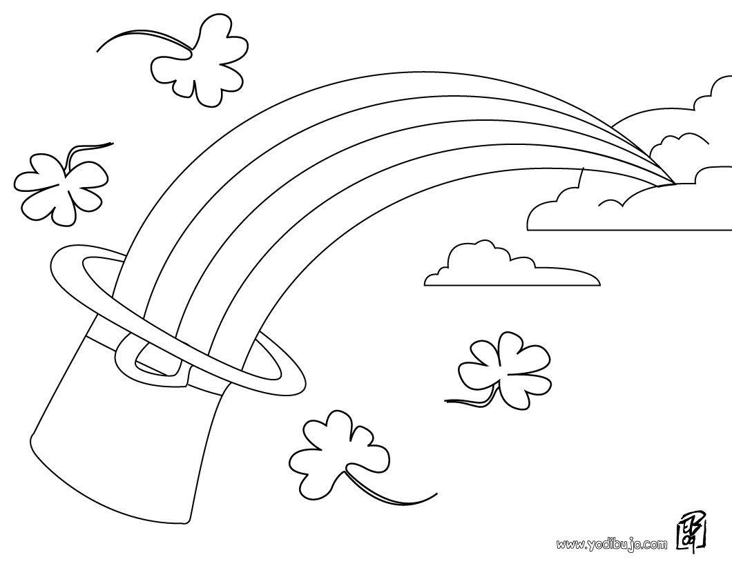 Dibujos para colorear SAN PATRICIO, Herraduras para imprimir