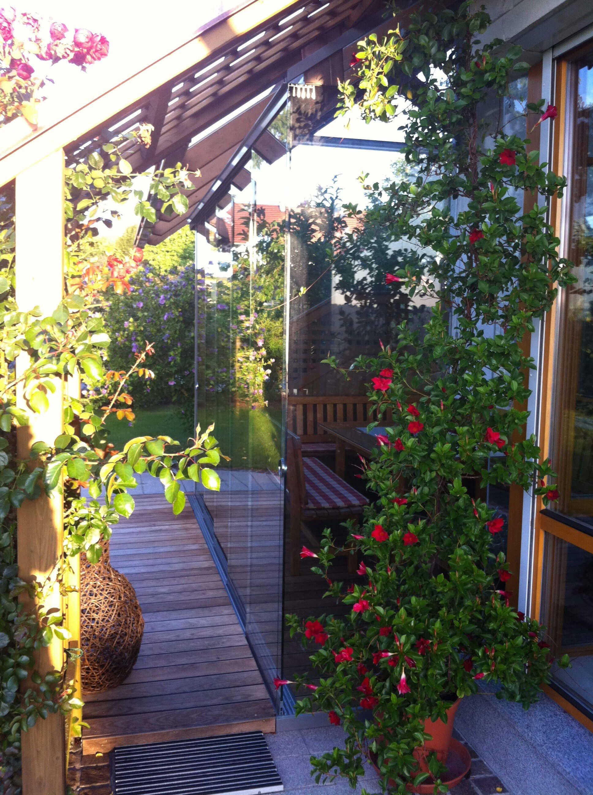 Windschutz Aus Holz Glas Sommergarten Windschutz