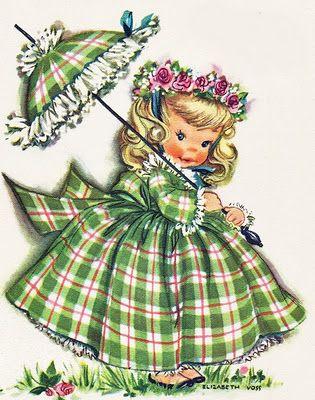 Vintage greeting card sombrinhas pinterest vintage greeting vintage greeting card m4hsunfo