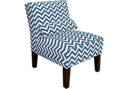 Navy White Armless Chair At Rooms To Go Navybedroomchair Small