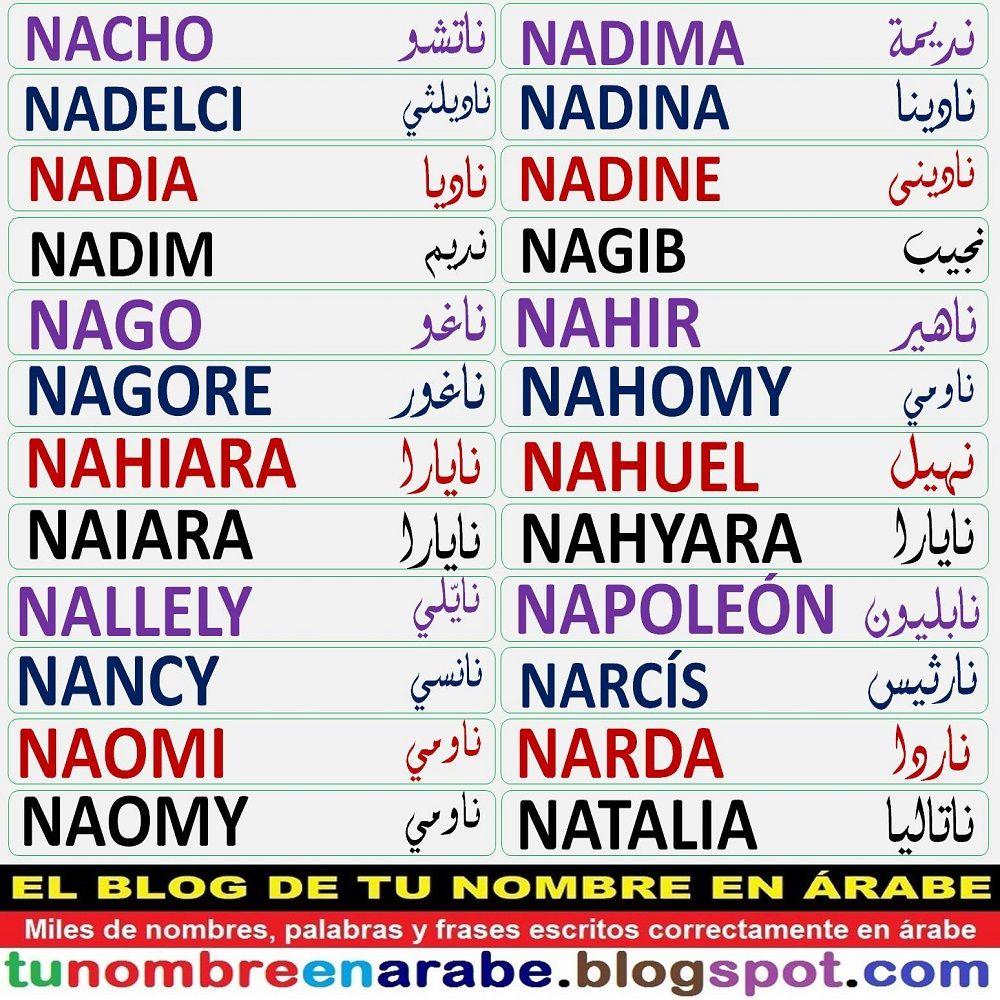 Más De 2500 Nombres Escritos Correctamente En árabe Y Muchos