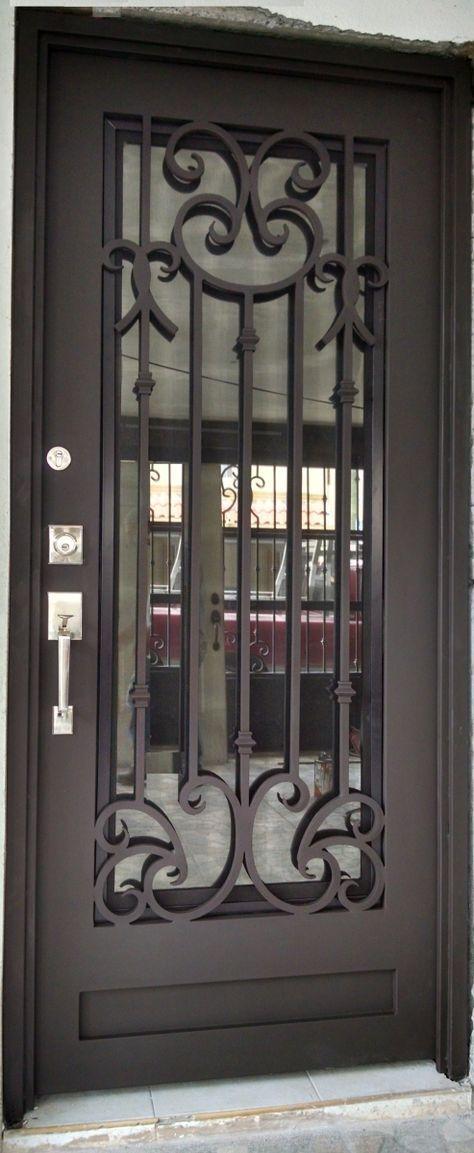 Puerta Principal De Herreria Puertas De Entrada Aluminio Puertas De Entrada Diseno De Puerta De Hierro