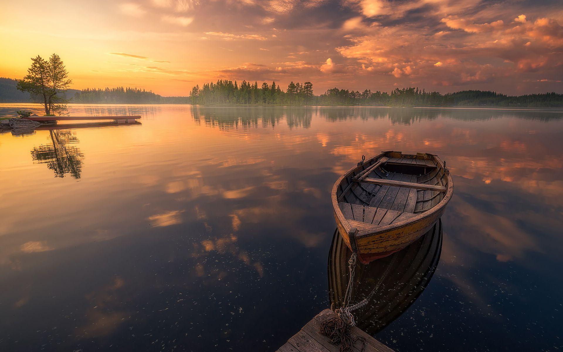 Beautiful Sunset Norway Landscape Earth Pictures Landscape Photos