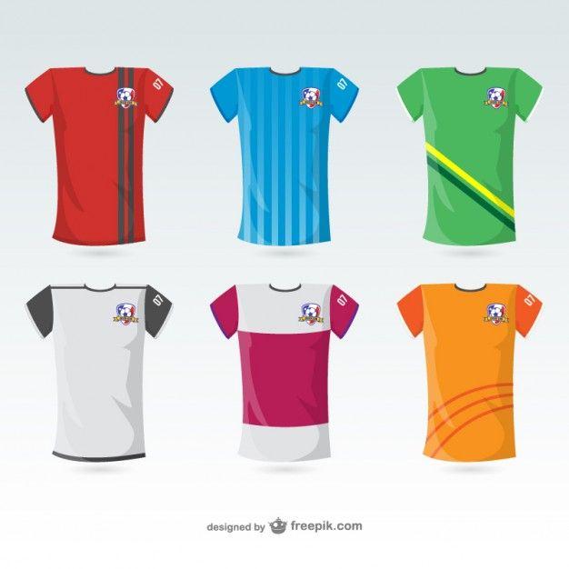 camisetas de fútbol vector gratis | deportes y sport - vector