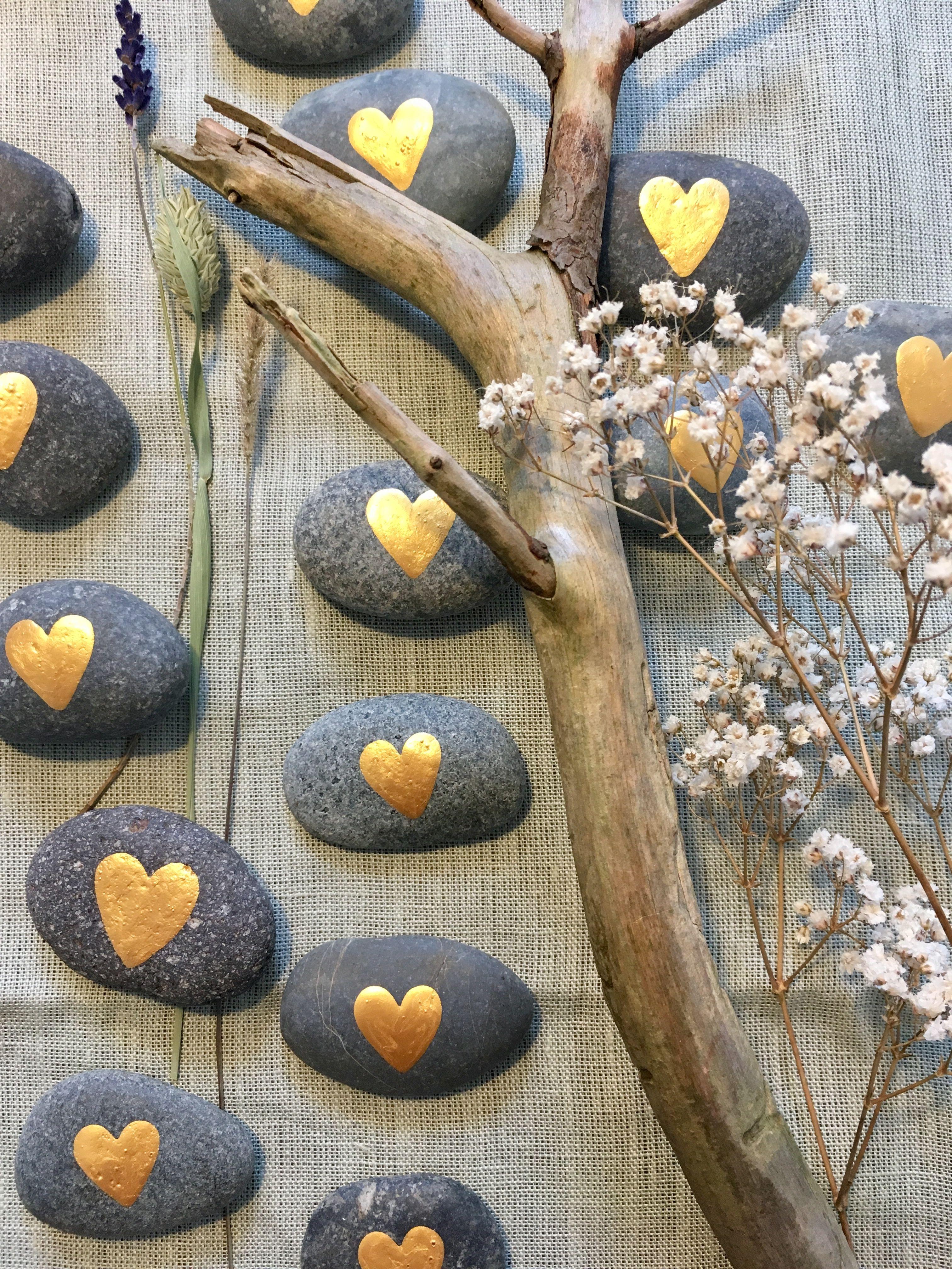 Hochzeit Tischdeko Gastgeschenke  – Meine Kunst auf Stein