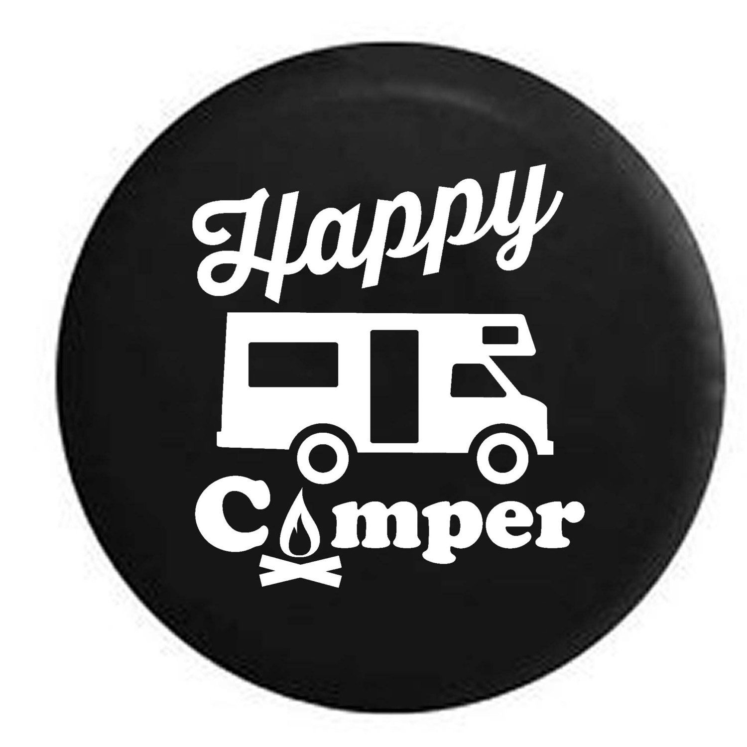 Happy Camper Camp Fire Recreational Vehicle Motorhome L Rv Camper Spare Tire Recreational Vehicles Recreational Vehicles Motorhome Rv Campers
