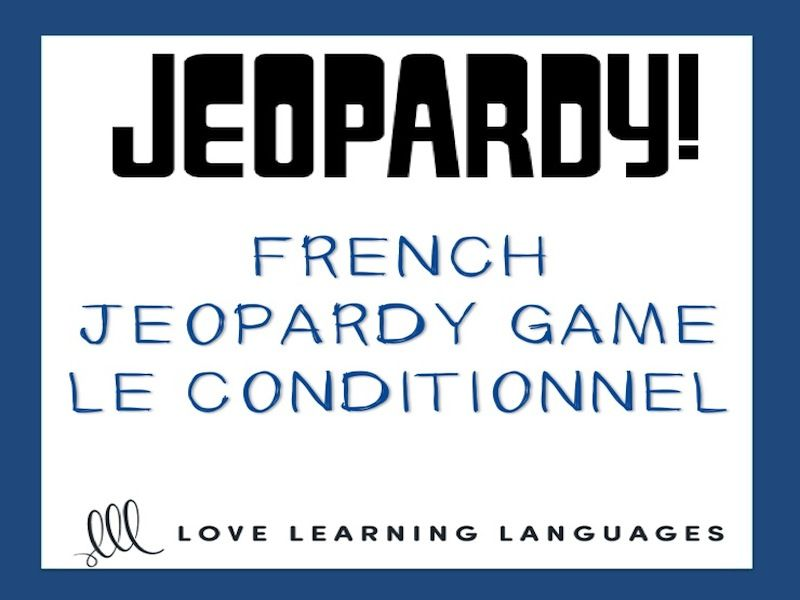 gcse french: french jeopardy game: le conditionnel - french, Powerpoint templates
