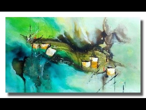 Abstract Painting Easy Acrylic Abstract Painting Demo