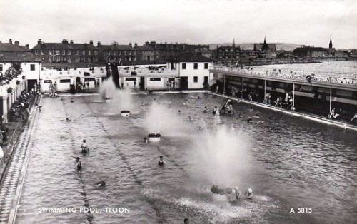 Troon lido home of my heart pinterest for Portobello outdoor swimming pool