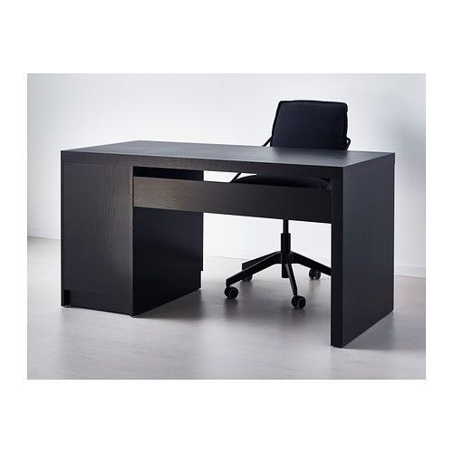 Malm Desk Black Brown Ikea Article 002 141 57 159 00
