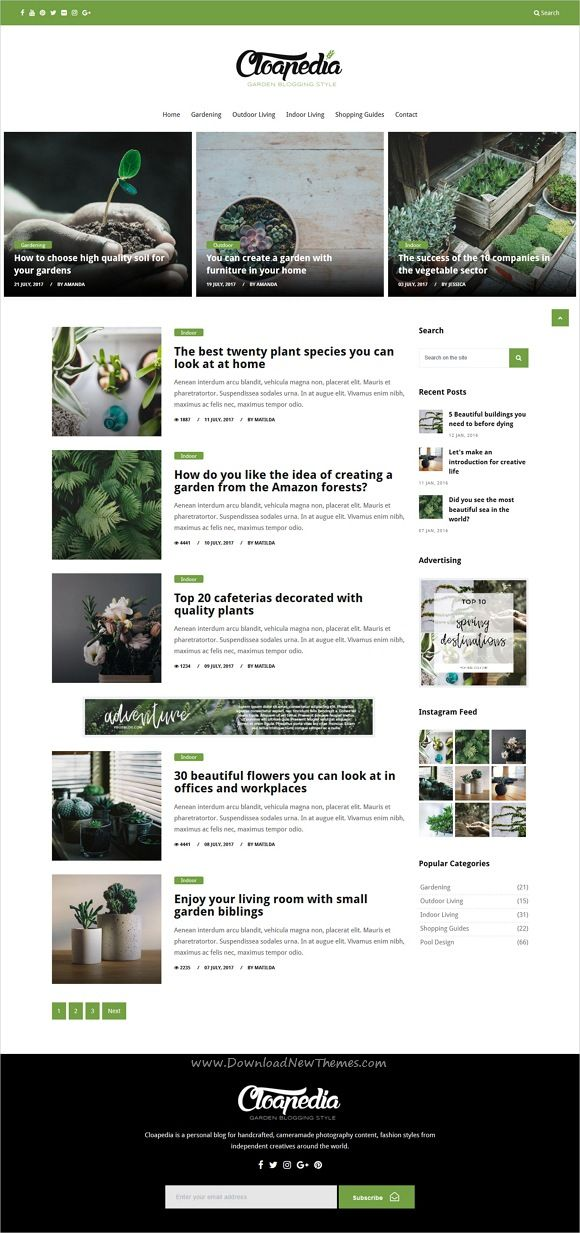 Blog Website Templates Cloapedia  Magazine Blog Website Template  Website