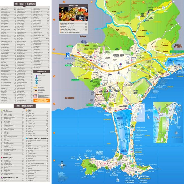 Hyères tourist map | Maps | Pinterest | Tourist map, France and City