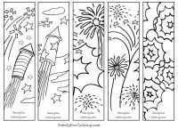Printable Bookmarks to Color - FamilyFunColoring